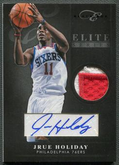 2010/11 Elite Black Box #99 Jrue Holiday Elite Series Patch Auto #1/5