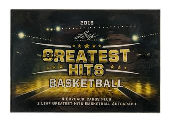 2015/16 Leaf Greatest Hits Basketball Hobby Box