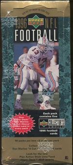1996 Upper Deck Collector's Choice Football Retail 96 Pack Box