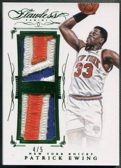 2014/15 Panini Flawless #33 Patrick Ewing Emerald Dual Patch #4/5