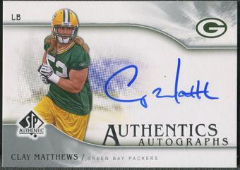 2009 SP Authentic #SPCM Clay Matthews Authentics Rookie Auto