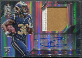 2015 Panini Spectra #166 Todd Gurley Rookie Patch Auto #66/75