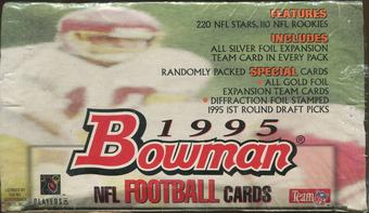 1995 Bowman Football Retail 20 Pack Box