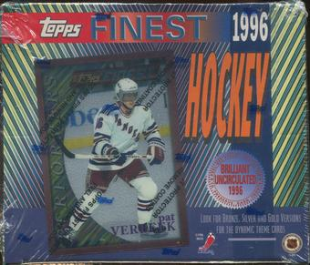 1995/96 Topps Finest Hockey Retail 20 Pack Box