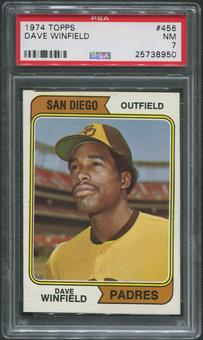 1974 Topps Baseball #456 Dave Winfield Rookie PSA 7 (NM)
