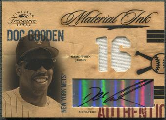 2004 Timeless Treasures #11 Doc Gooden Material Ink Jersey Auto #056/100