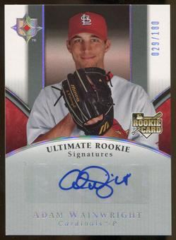 2006 Ultimate Collection #101 Adam Wainwright Rookie Auto #029/180
