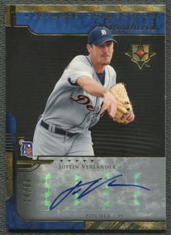 2005 Ultimate Collection #JV Justin Verlander Signatures Rookie Auto #14/69