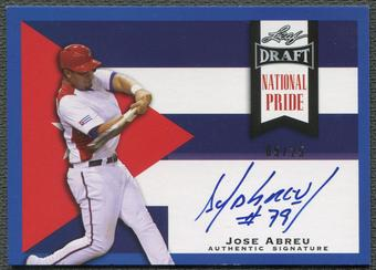 2013 Leaf Draft #JA2 Jose Abreu National Pride Blue Rookie Auto #05/25