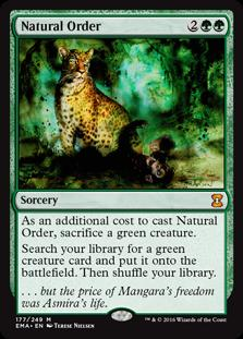 Magic the Gathering Eternal Masters Single Natural Order NEAR MINT (NM)