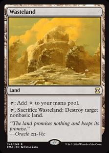 Magic the Gathering Eternal Masters Single Wasteland NEAR MINT (NM)