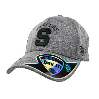 Syracuse Orange Top Of The World Steam Charcoal Grey One Fit Flex Hat (Adult One Size)