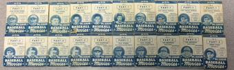 1937/38 Goudey Big League Baseball Movies Lot Of 20 DiMaggio Foxx Ott