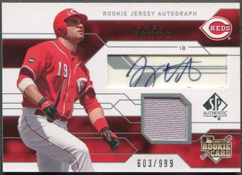2008 SP Authentic #137 Joey Votto Rookie Jersey Auto #603/999