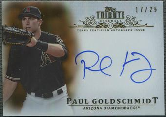 2013 Topps Tribute #PG2 Paul Goldschmidt Orange Auto #17/25