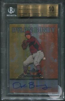 2011 Leaf Valiant Draft #DB2 Dylan Bundy Rookie Orange Auto #05/25 BGS 10 (PRISTINE)