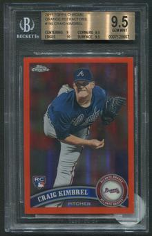 2011 Topps Chrome #195 Craig Kimbrel Rookie Orange Refractor BGS 9.5 (GEM MINT)