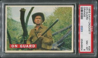1956 Davy Crockett Orange #26 On Guard PSA 8 (NM-MT)