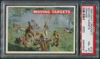 1956 Davy Crockett Orange #13 Moving Targets PSA 8 (NM-MT)
