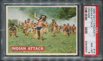 1956 Davy Crockett Orange #14 Indian Attack PSA 8 (NM-MT)