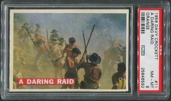 1956 Davy Crockett Orange #11 A Daring Raid PSA 8 (NM-MT)