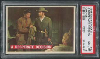 1956 Davy Crockett Orange #52 A Desperate Decision PSA 8 (NM-MT)