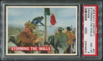 1956 Davy Crockett Orange #67 Storming the Walls PSA 8 (NM-MT)