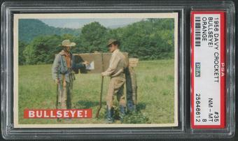 1956 Davy Crockett Orange #35 Bullseye! PSA 8 (NM-MT)