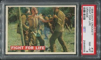 1956 Davy Crockett Orange #18 Fight for Life PSA 8 (NM-MT)