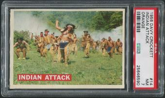 1956 Davy Crockett Orange #14 Indian Attack PSA 7 (NM)