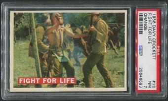 1956 Davy Crockett Orange #18 Fight for Life PSA 7 (NM)