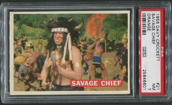 1956 Davy Crockett Orange #21 Savage Chief PSA 7 (NM)
