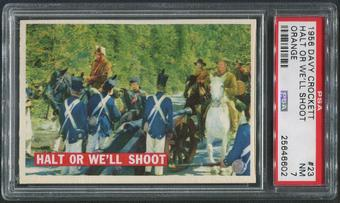 1956 Davy Crockett Orange #23 Halt Or We'll Shoot PSA 7 (NM)