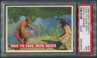 1956 Davy Crockett Orange #29 Face to Face with Death PSA 7 (NM)