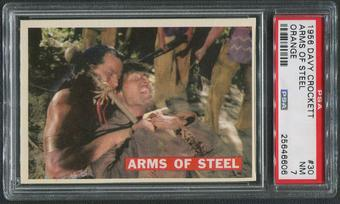 1956 Davy Crockett Orange #30 Arms of Steel PSA 7 (NM)