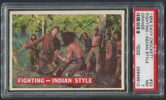 1956 Davy Crockett Orange #33 Fighting-Indian Style PSA 7 (NM)