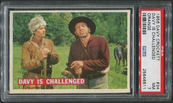 1956 Davy Crockett Orange #34 Davy is Challenged PSA 7 (NM)