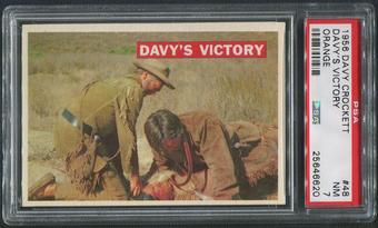 1956 Davy Crockett Orange #48 Davy's Victory PSA 7 (NM)