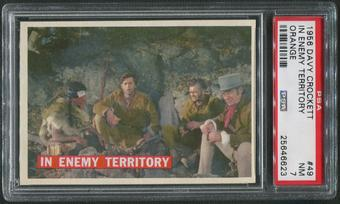 1956 Davy Crockett Orange #49 In Enemy Territory PSA 7 (NM)