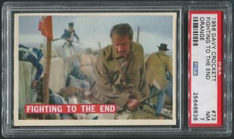 1956 Davy Crockett Orange #73 Fighting to the End PSA 7 (NM)