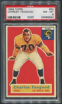 1956 Topps Football #54 Charley Toogood PSA 8 (NM-MT)