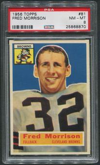 1956 Topps Football #81 Fred Morrison PSA 8 (NM-MT)
