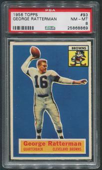 1956 Topps Football #93 George Ratterman PSA 8 (NM-MT)
