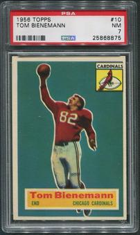 1956 Topps Football #10 Tom Bienemann SP Rookie PSA 7 (NM)