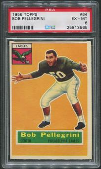 1956 Topps Football #64 Bob Pellegrini Rookie PSA 6 (EX-MT)