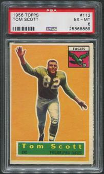 1956 Topps Football #112 Tom Scott PSA 6 (EX-MT)