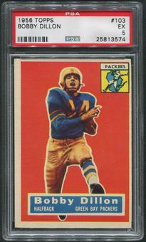 1956 Topps Football #103 Bobby Dillon PSA 5 (EX)