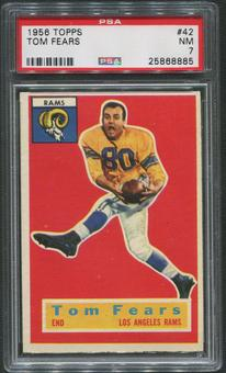 1956 Topps Football #42 Tom Fears PSA 7 (NM)