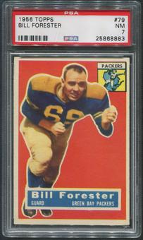 1956 Topps Football #79 Bill Forester Rookie PSA 7 (NM)