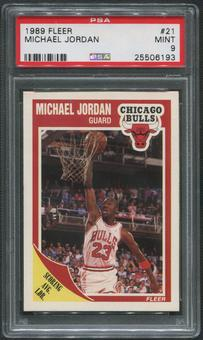 1989/90 Fleer Basketball #21 Michael Jordan PSA 9 (MINT)